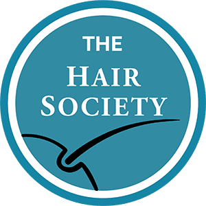 The Hair Society Premium Membership Badge 175x175 Transparent White Letters