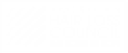 The American Hair Loss Council Badge Transparent White Letters